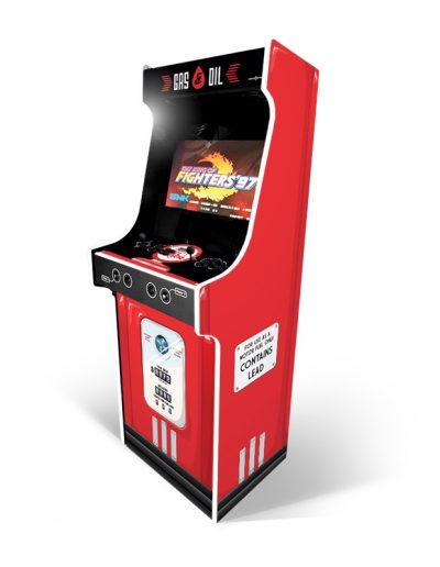 borne d'arcade imitation pompe à essence vintage