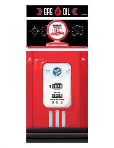 borne d'arcade rouge pompe à essence