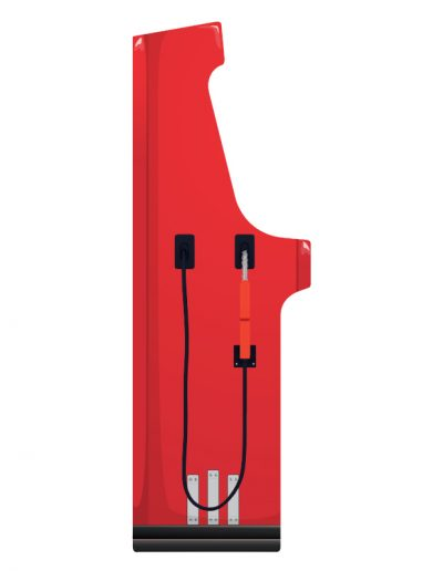 borne d'arcade rouge effet pompe à gasoil