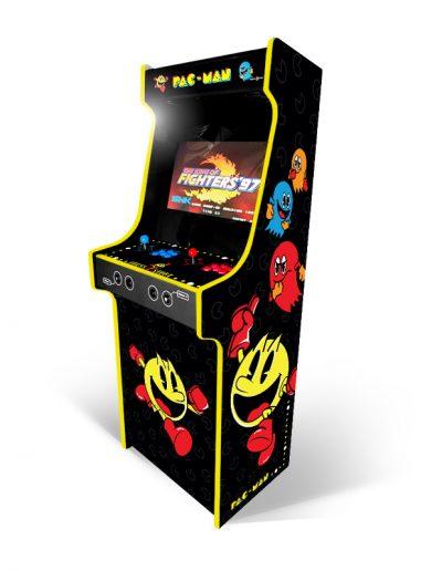 borne d'arcade pacman jaune et noir