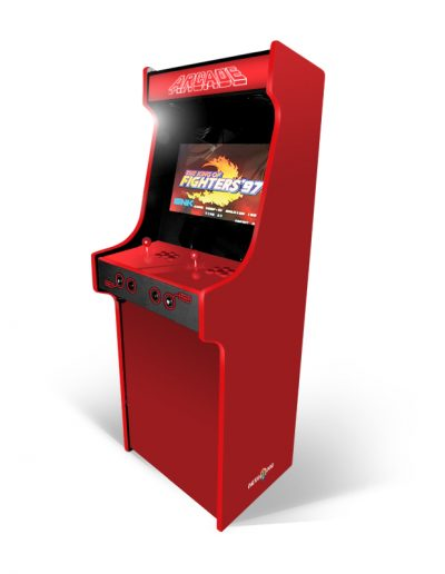 borne d'arcade rouge