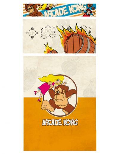 borne d'arcade nitendo motif dong king kong