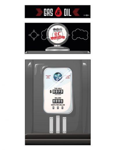 borne d'arcade imitation pompe à essence